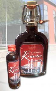 Likörflaschen Stadtpark Frankenberg