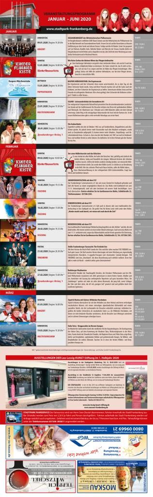 Stadtpark Programm 01/2020