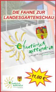 Fahne Landesgartenschau